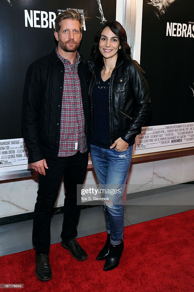 Actors Paul Sparks and <a gi-track='captionPersonalityLinkClicked' href=/galleries/search?phrase=Annie+Parisse&family=editorial&specificpeople=224561 ng-click='$event.stopPropagation()'>Annie Parisse</a> attend the 'Nebraska' special screening at Paris Theater on November 6, 2013 in New York City.