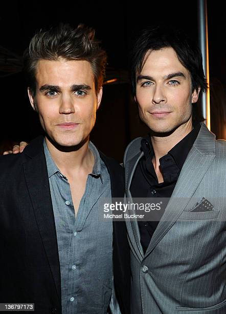 Actors Paul Wesley and Ian Somerhalder attend the 2012 People's Choice Awards at Nokia Theatre LA Live on January 11 2012 in Los Angeles California