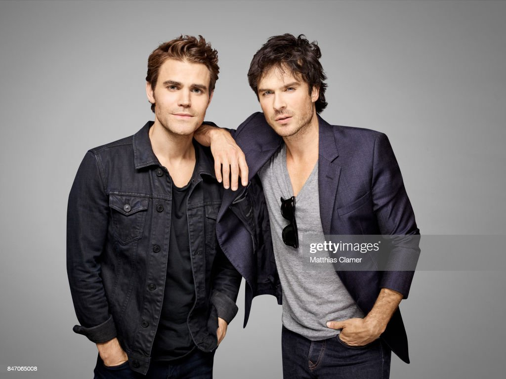 Actors Paul Wesley and Ian Somerhalder from 'The Vampire Diaries' are photographed for Entertainment Weekly Magazine on July 23, 2016 at Comic Con in the Hard Rock Hotel in San Diego, California.