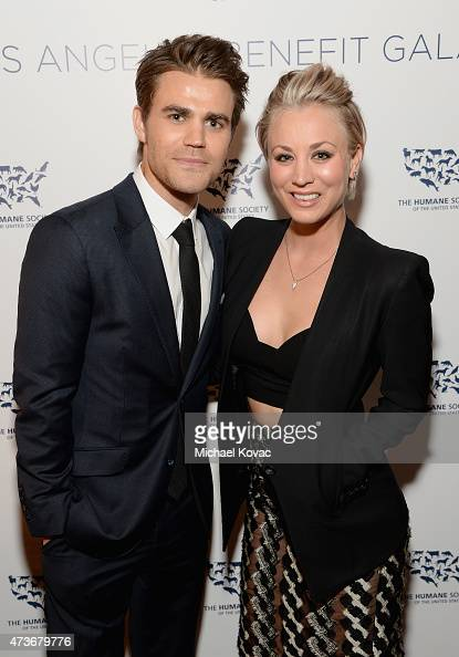 Actors Paul Wesley and Kaley CuocoSweeting attend The Humane Society Of The United States' Los Angeles Benefit Gala at the Beverly Wilshire Hotel on...