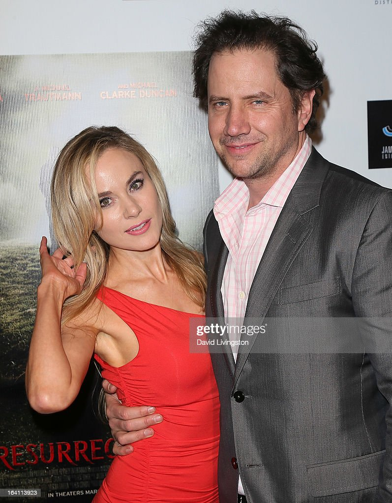 Actors Paula LaBaredas (L) and <a gi-track='captionPersonalityLinkClicked' href=/galleries/search?phrase=Jamie+Kennedy&family=editorial&specificpeople=206976 ng-click='$event.stopPropagation()'>Jamie Kennedy</a> attend the premiere of 'A Resurrection' at ArcLight Sherman Oaks on March 19, 2013 in Sherman Oaks, California.