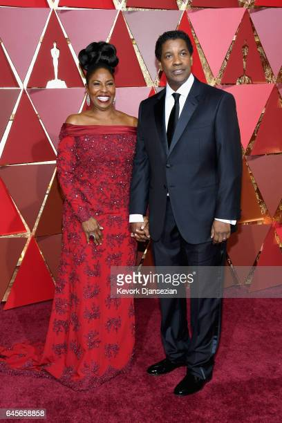 Actors Pauletta Washington and Denzel Washington attend the 89th Annual Academy Awards at Hollywood Highland Center on February 26 2017 in Hollywood...