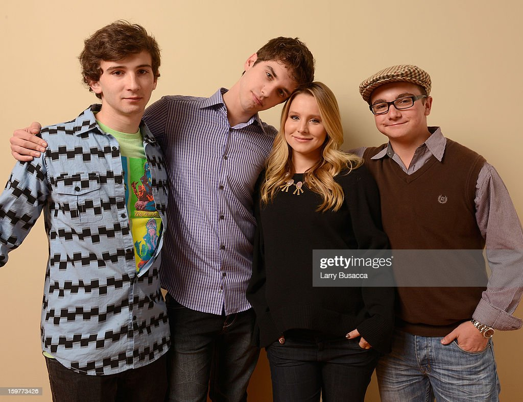 Actors Paulie Litt, David Lambert, <a gi-track='captionPersonalityLinkClicked' href=/galleries/search?phrase=Kristen+Bell&family=editorial&specificpeople=194764 ng-click='$event.stopPropagation()'>Kristen Bell</a> and Alex Shaffer pose for a portrait during the 2013 Sundance Film Festival at the Getty Images Portrait Studio at Village at the Lift on January 20, 2013 in Park City, Utah.