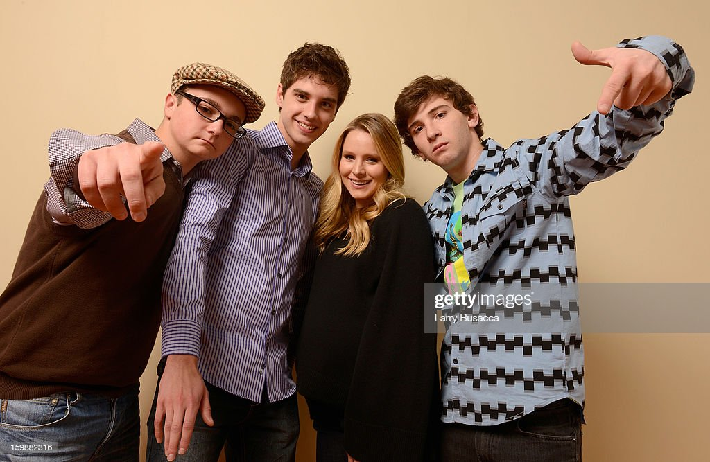 Actors Paulie Litt David Lambert Kristen Bell and Alex Shaffer pose for a portrait during the 2013 Sundance Film Festival at the Getty Images...