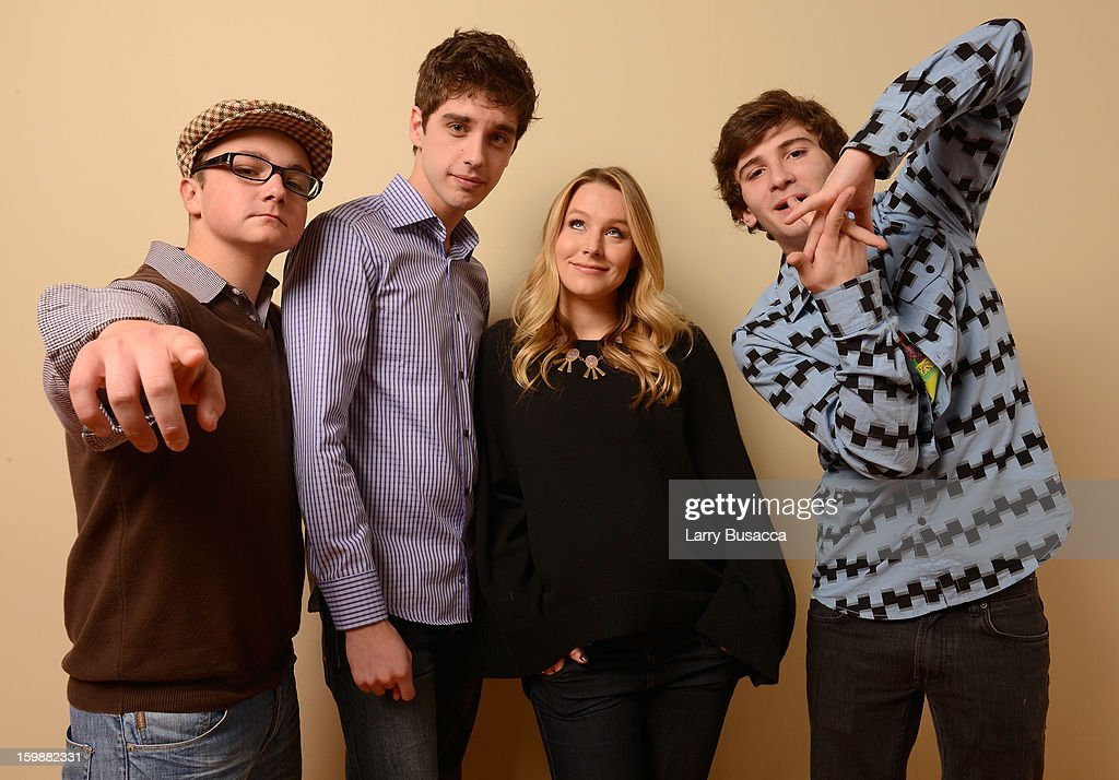 Actors Paulie Litt, David Lambert, <a gi-track='captionPersonalityLinkClicked' href=/galleries/search?phrase=Kristen+Bell&family=editorial&specificpeople=194764 ng-click='$event.stopPropagation()'>Kristen Bell</a> and <a gi-track='captionPersonalityLinkClicked' href=/galleries/search?phrase=Alex+Shaffer&family=editorial&specificpeople=6846437 ng-click='$event.stopPropagation()'>Alex Shaffer</a> pose for a portrait during the 2013 Sundance Film Festival at the Getty Images Portrait Studio at Village at the Lift on January 20, 2013 in Park City, Utah.