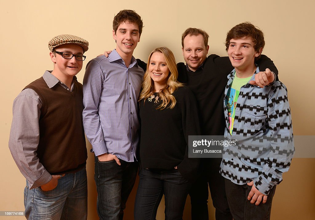 Actors Paulie Litt, David Lambert, <a gi-track='captionPersonalityLinkClicked' href=/galleries/search?phrase=Kristen+Bell&family=editorial&specificpeople=194764 ng-click='$event.stopPropagation()'>Kristen Bell</a>, Joshua Harto and Alex Shaffer pose for a portrait during the 2013 Sundance Film Festival at the Getty Images Portrait Studio at Village at the Lift on January 20, 2013 in Park City, Utah.
