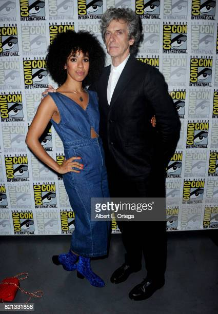 Actors Pearl Mackie and Peter Capaldi during 2017 ComicCon International at San Diego Convention Center on July 23 2017 in San Diego California
