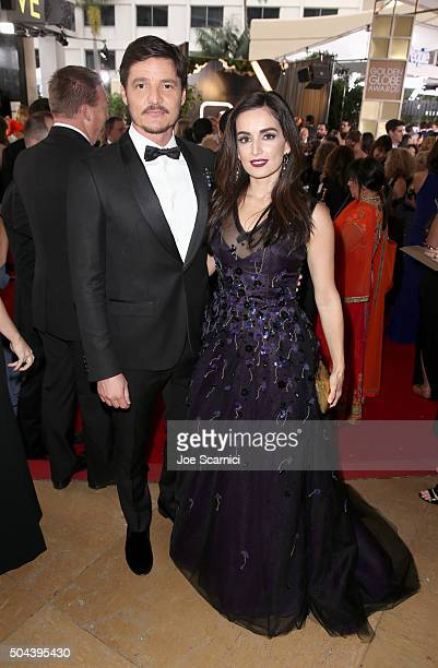 Actors Pedro Pascal and Ana de la Reguera attend the 73rd Annual Golden Globe Awards held at the Beverly Hilton Hotel on January 10 2016 in Beverly...