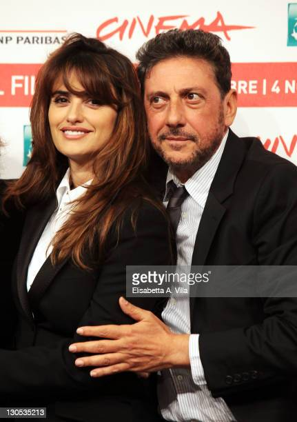 Actors Penelope Cruz and Sergio Castellitto attend a photocall during the 6th International Rome Film Festival at the Auditorium Parco Della Musica...