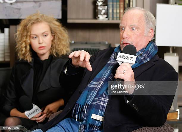 Actors Penelope Mitchell and Richard Dreyfuss attend The Variety Studio At Sundance Presented By Dockers Day 4 on January 27 2015 in Park City Utah