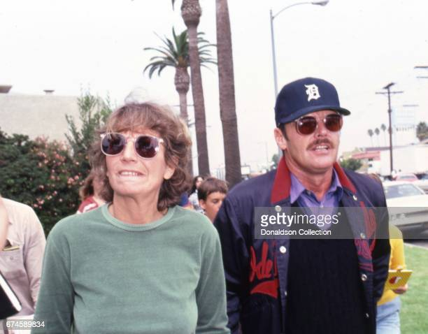 Actors Penny Marshall and Jack Nicholson at the SAG and AFTRA Actors On Strike circa 1980 in Los Angeles California