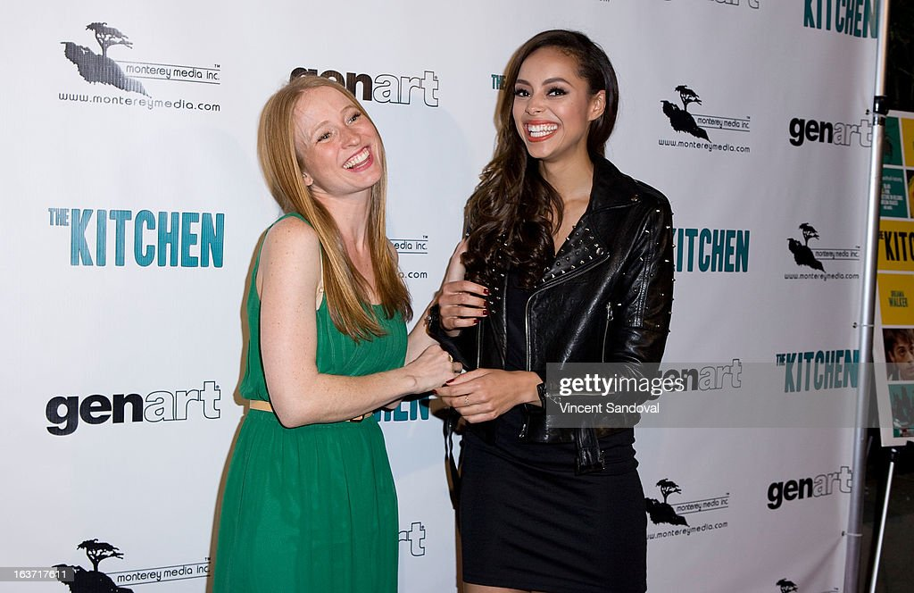 Actors Pepper Binkley and <a gi-track='captionPersonalityLinkClicked' href=/galleries/search?phrase=Amber+Stevens&family=editorial&specificpeople=4152761 ng-click='$event.stopPropagation()'>Amber Stevens</a> attend the Los Angeles premiere of 'The Kitchen' at Laemmle NoHo 7 on March 14, 2013 in North Hollywood, California.