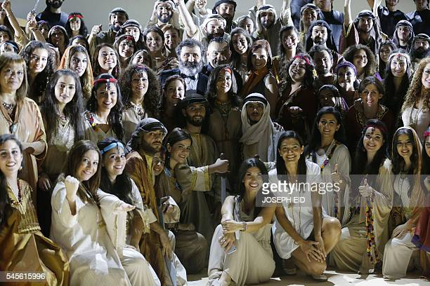 Actors perform 'Antar and Abla' the first Lebanese opera in Arabic to be completed and performed in the region at the theatre of the Casino Du Liban...