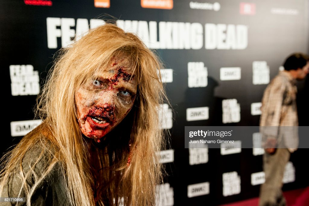 Actors perform during 'Fear The Walking Dead' photocall at Callao Cinema on July 24, 2017 in Madrid, Spain.