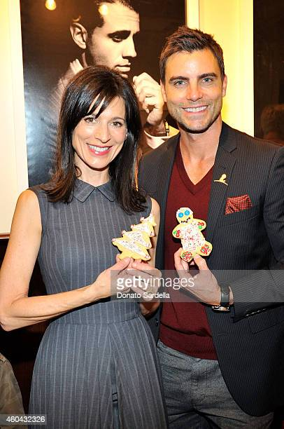 Actors Perrey Reeves and Colin Egglesfield attend as Brooks Brothers celebrates the holidays with St Jude Children's Research Hospital and Town...