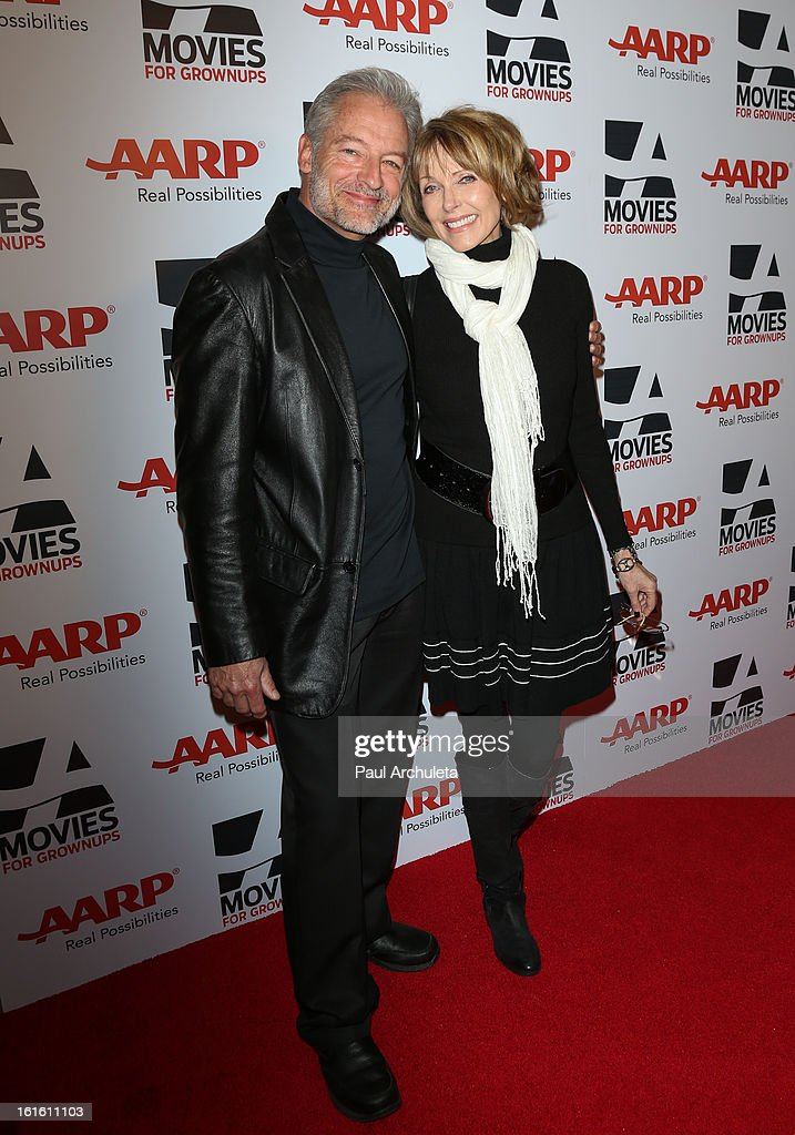 Actors Perry King (L) and Susan Blakely (R) attend AARP Magazine's 12th annual Movies For Grownups Awards luncheon at the Peninsula Hotel on February 12, 2013 in Beverly Hills, California.