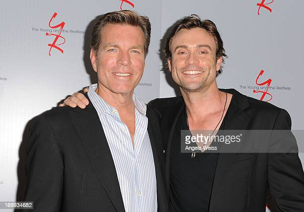 Actors Peter Bergman and Daniel Goddard attend the 40 years of 'The Young and The Restless' celebration presented by SAGAFTRA at SAGAFTRA on June 4...
