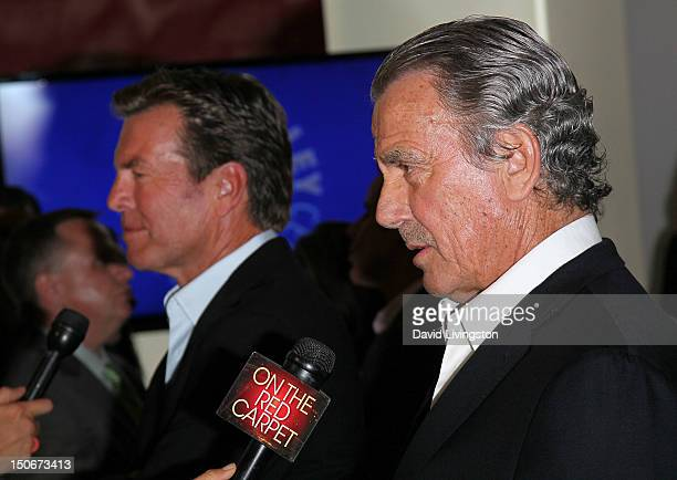 Actors Peter Bergman and Eric Braeden attend The Paley Center for Media presentation of 'The Young and the Restless Celebrating 10000 Episodes' at...