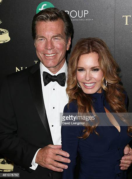 Actors Peter Bergman and Tracey E Bregman attend the 41st Annual Daytime Emmy Awards at The Beverly Hilton Hotel on June 22 2014 in Beverly Hills...