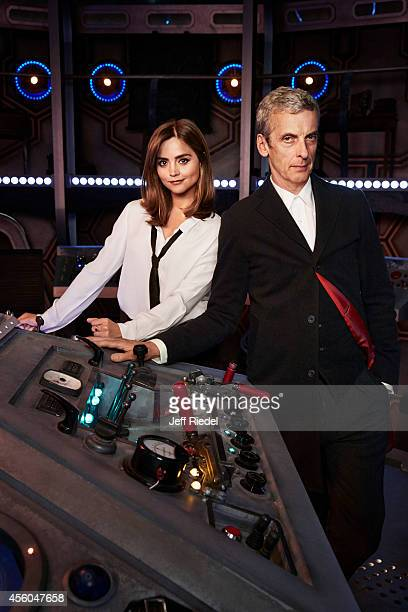 Actors Peter Capaldi and Jenna Coleman are photographed for Entertainment Weekly Magazine on June 17 2014 in London England PUBLISHED IMAGE