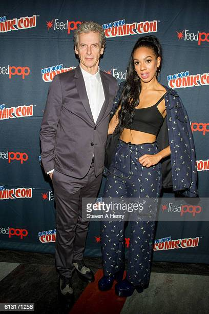 Actors Peter Capaldi and Pearl Mackie attend the BBC America press line at the 2016 New York Comic Con Day 2 on October 7 2016 in New York City