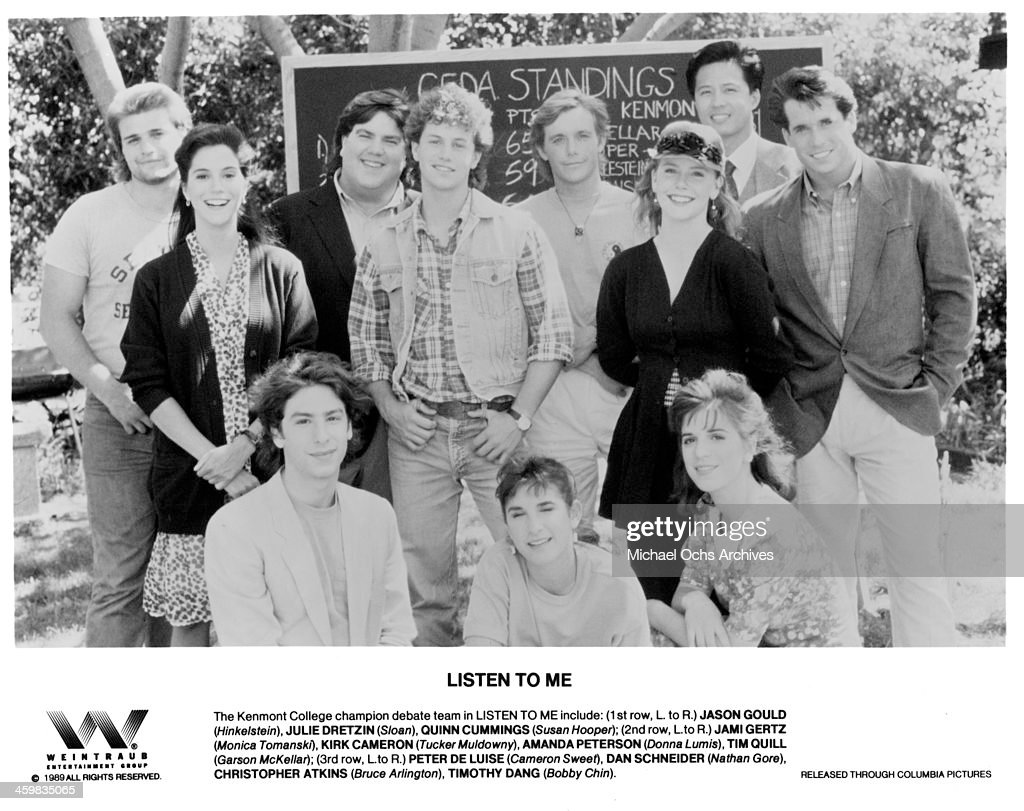 Actors Peter DeLuise Dan Schneider Christopher Atkins Timothy Dang actress Jami Gertz Kirk Cameron Amanda Peterson Tim Quill actor Jason Gould Julie...