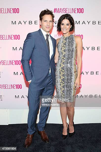 Actors Peter Facinelli and Jaimie Alexander attend Maybelline New York's 100 Year Anniversary at IAC Building on May 14 2015 in New York City