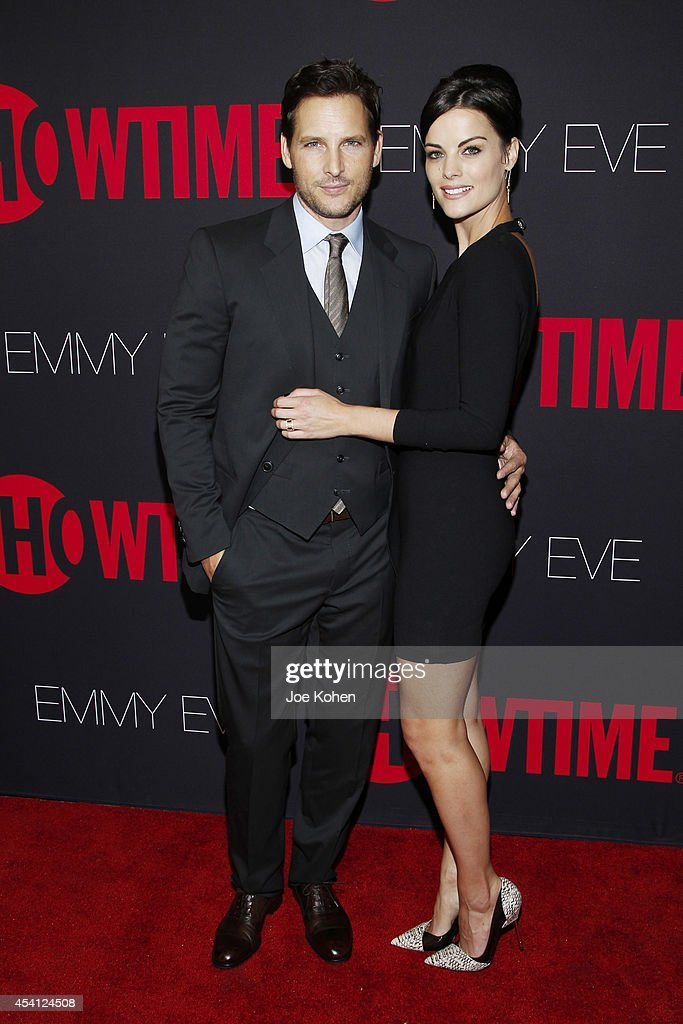 Actors Peter Facinelli and Jaimie Alexander attend Showtime 2014 Emmy Eve at Sunset Tower on August 24 2014 in West Hollywood California