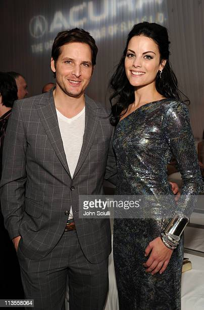 Actors Peter Facinelli and Jaimie Alexander attend the after party for the movie of THOR presented by Acura on May 2 2011 in Hollywood California
