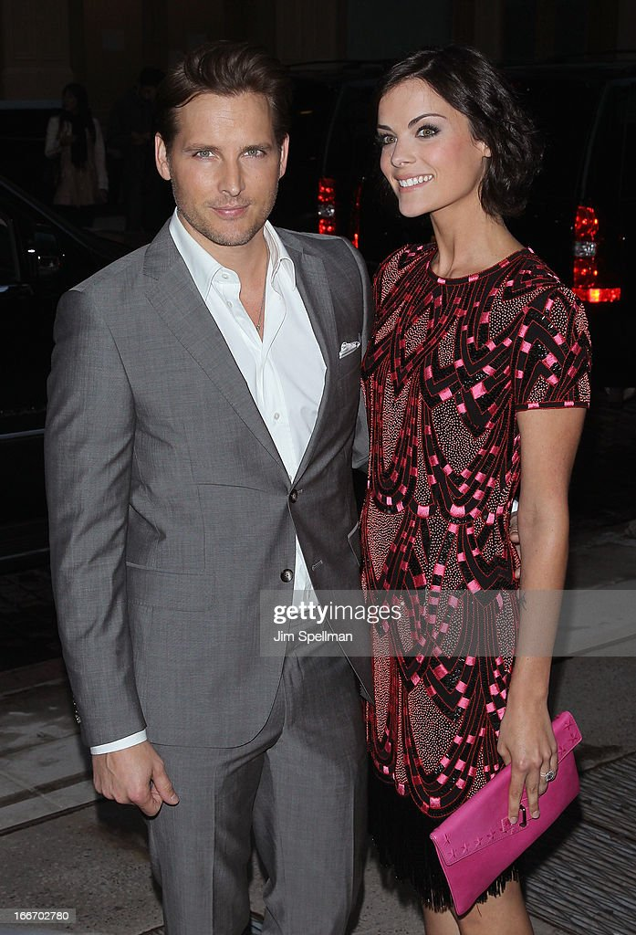 Actors <a gi-track='captionPersonalityLinkClicked' href=/galleries/search?phrase=Peter+Facinelli&family=editorial&specificpeople=233464 ng-click='$event.stopPropagation()'>Peter Facinelli</a> and <a gi-track='captionPersonalityLinkClicked' href=/galleries/search?phrase=Jaimie+Alexander&family=editorial&specificpeople=544496 ng-click='$event.stopPropagation()'>Jaimie Alexander</a> attend The Cinema Society and Men's Fitness screening of 'Pain and Gain' at Crosby Street Hotel on April 15, 2013 in New York City.
