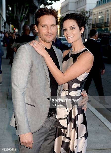 Actors Peter Facinelli and Jaimie Alexander attend the HBO Premiere Of 'The Normal Heart' at The WGA Theater on May 19 2014 in Beverly Hills...