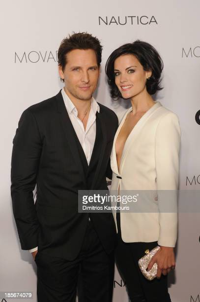 Actors Peter Facinelli and Jaimie Alexander walk the red carpet at the 2013 GQ Gentlemen's Ball presented by BMW i Movado and Nautica at IAC Building...