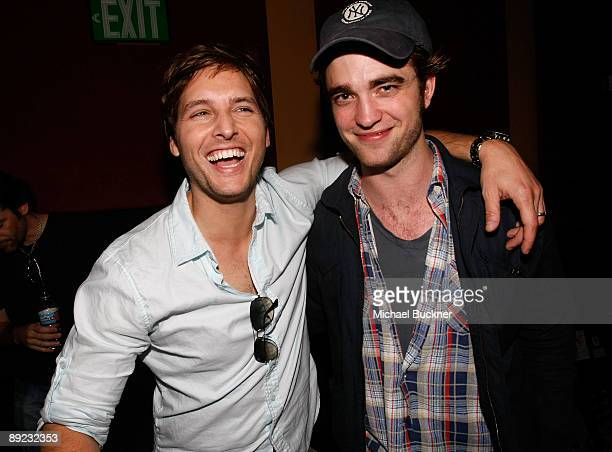 Actors Peter Facinelli and Robert Pattinson attend Summit Entertainment The Twilight Fan Experience Screening during ComicCon 2009 held at Gaslamp...