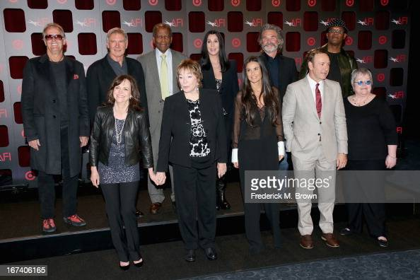 Actors Peter Fonda Harrison Ford Sidney Poitier Cher Kurt Russell Samuel L Jackson Sally Field Shirley MacLaine Demi Moore Kevin Spacey and Kathy...