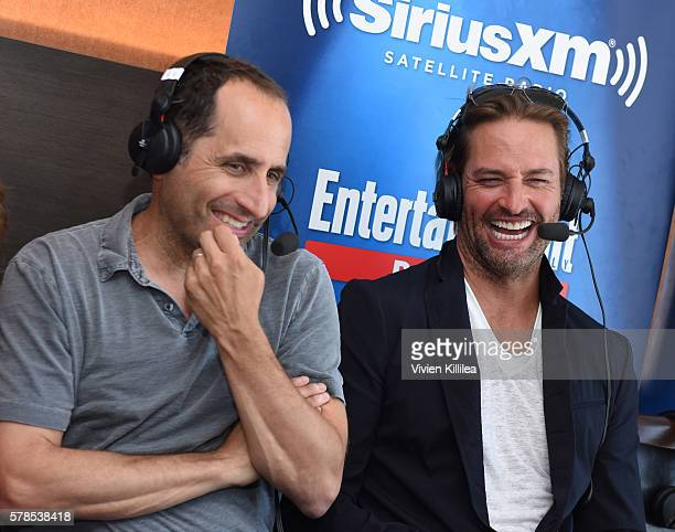 Actors Peter Jacobson and Josh Holloway attend SiriusXM's Entertainment Weekly Radio Channel Broadcasts From ComicCon 2016 at Hard Rock Hotel San...