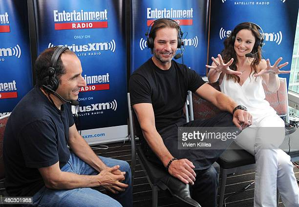 Actors Peter Jacobson Josh Holloway and Sarah Wayne Callies attend SiriusXM's Entertainment Weekly Radio Channel Broadcasts From ComicCon 2015 at...