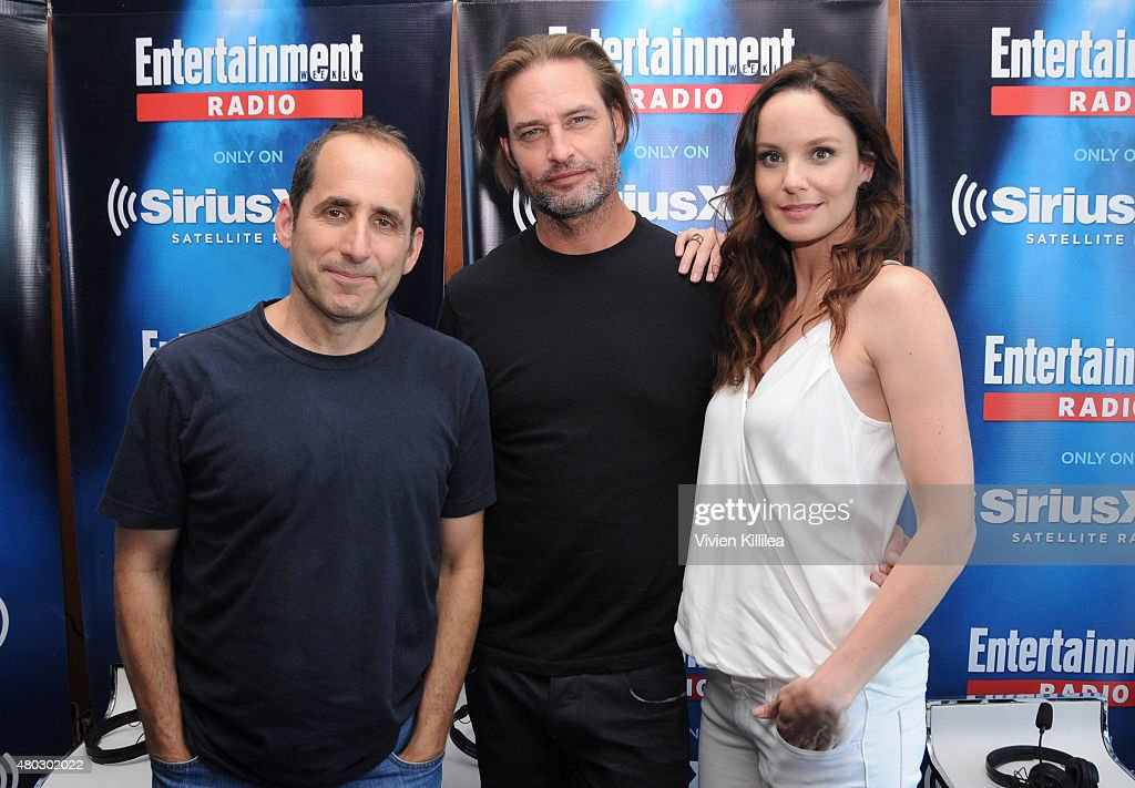 Actors Peter Jacobson, Josh Holloway and Sarah Wayne Callies attend SiriusXM's Entertainment Weekly Radio Channel Broadcasts From Comic-Con 2015 at Hard Rock Hotel San Diego on July 10, 2015 in San Diego, California.