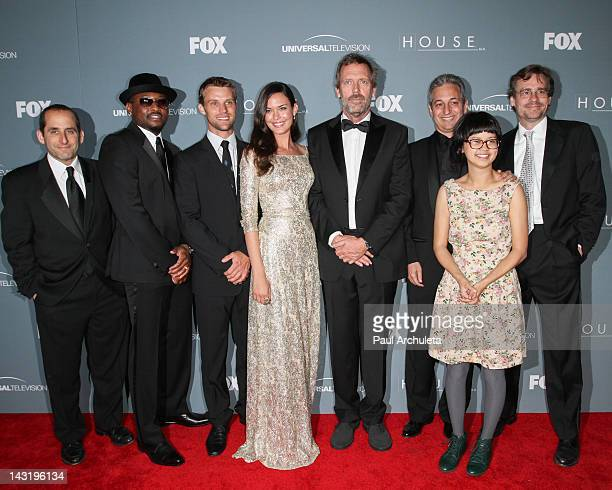 Actors Peter Jacobson Omar Epps Jesse Spencer Odette Annable Hugh Laurie David Shore Charlyne Yi and Robert Sean Leonard attend Fox's 'House' series...