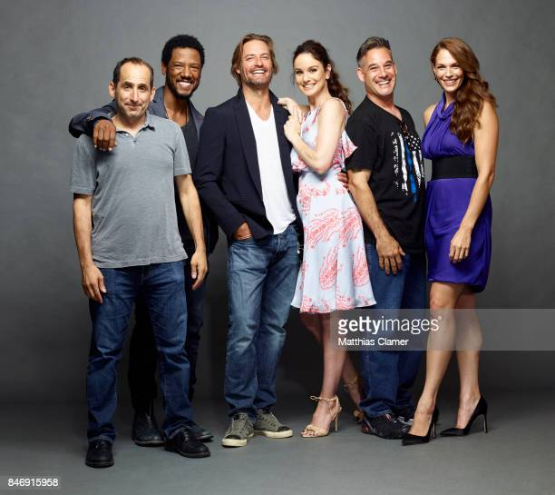 Actors Peter Jacobson Tory Kittles Josh Holloway Sarah Wayne Callies Adrian Pasdar and Amanda Righetti from 'Colony' are photographed for...