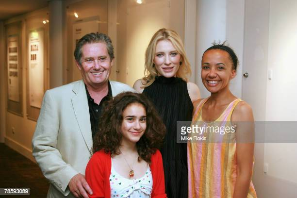 Actors Peter KowitzDanielle CatanzaritiCate Blanchett and Paula Arundell attend the opening night of 'Blackbird' at the Sydney Theatre Company on...
