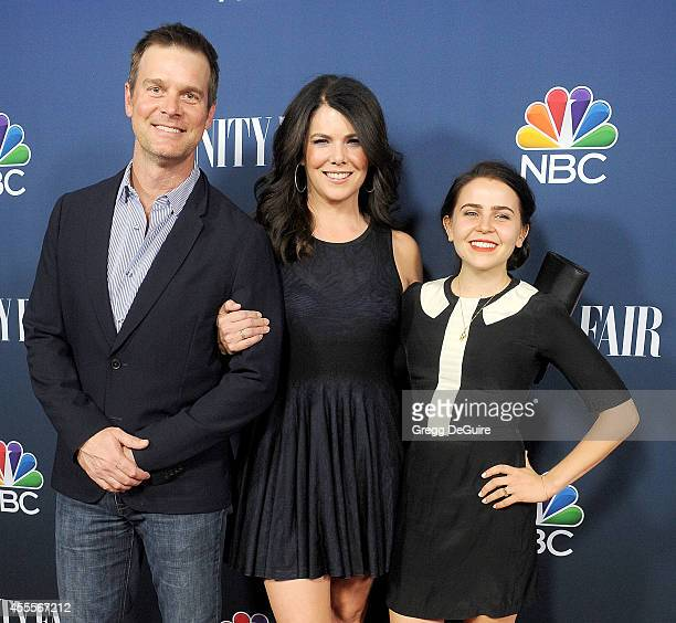 Actors Peter Krause Lauren Graham and Mae Whitman arrive at the NBC And Vanity Fair 20142015 TV Season Red Carpet Media Event at HYDE Sunset Kitchen...