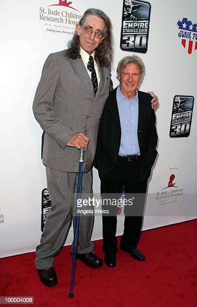 Actors Peter Mayhew and Harrison Ford arrive at St Jude's 30th anniversary screening of 'The Empire Strikes Back' at Arclight Cinema on May 19 2010...