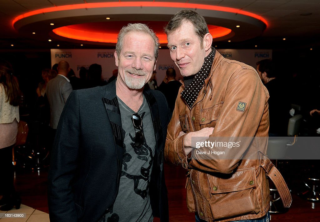 Actors Peter Mullan and Jason Flemyng attend the 'Welcome To The Punch' UK Premiere at the Vue West End on March 5, 2013 in London, England.