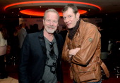 Actors Peter Mullan and Jason Flemyng attend the 'Welcome To The Punch' UK Premiere at the Vue West End on March 5 2013 in London England