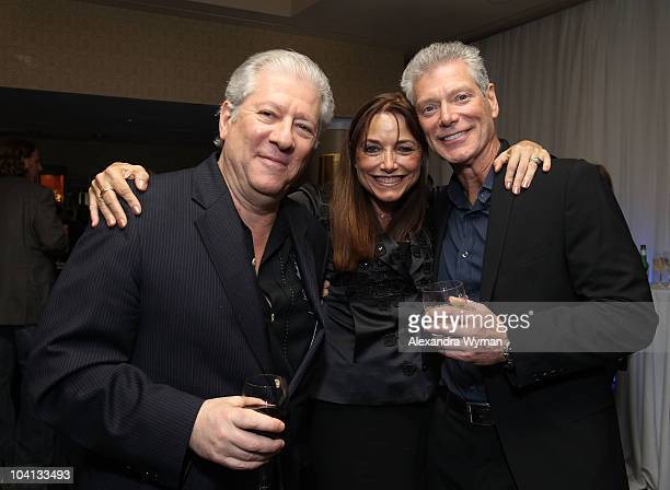 Actors Peter Riegertand Karen Allen actor Stephen Lang attend 'White Irish Drinkers' Party during the 35th Toronto International Film Festival at the...