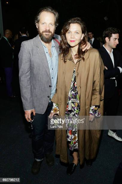 Actors Peter Sarsgaard and Maggie Gyllenhaal attend The Museum of Modern Art's Party in the Garden at MOMA on June 5 2017 in New York City