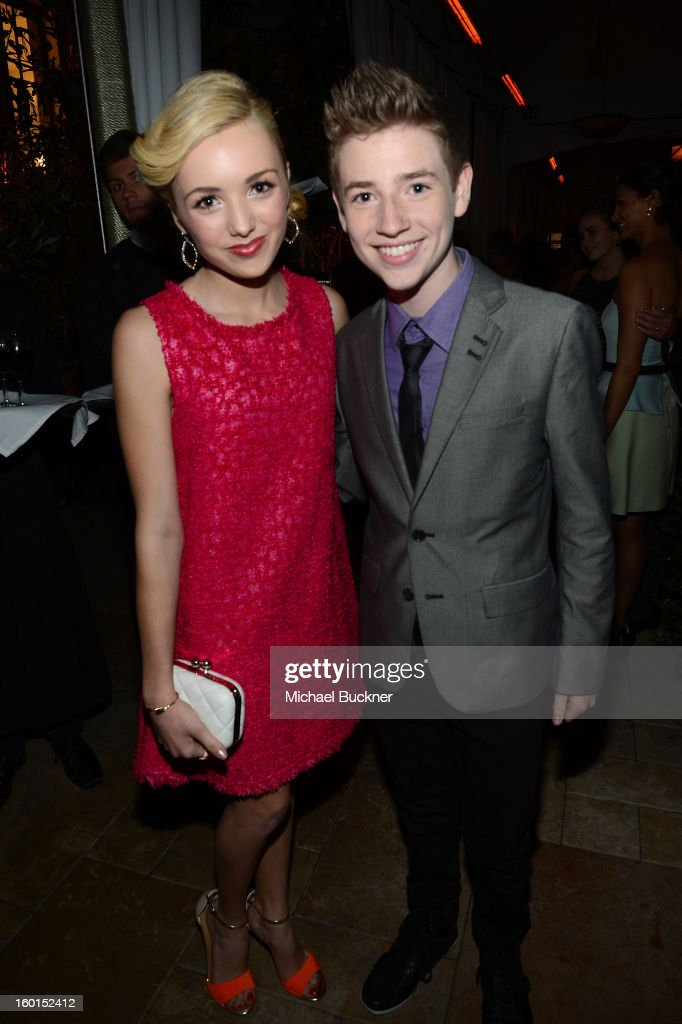 Actors Peyton List (L) and Jackson Pace attend the Entertainment Weekly Pre-SAG Party hosted by Essie and Audi held at Chateau Marmont on January 26, 2013 in Los Angeles, California.