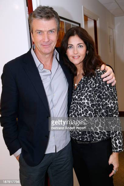 Actors Philippe Caroit and Cristiana Reali attend the 'Vivement Dimanche' French TV Show held at Pavillon Gabriel on November 13 2013 in Paris France