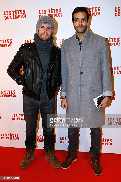 Actors Philippe Lacheau and Tarek Boudali attend 'Les Tetes de l''Emploi' Paris Premiere at Cinema Gaumont Opera Capucines on November 14 2016 in...