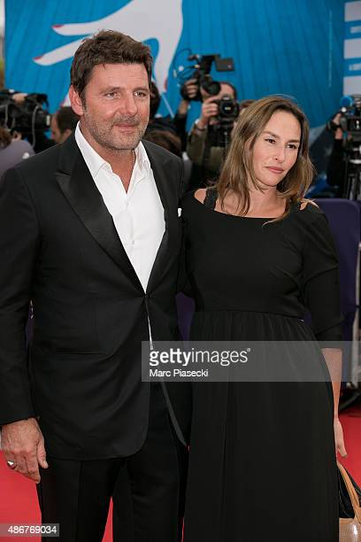 Actors Philippe Lellouche and wife Vanessa Demouy attend the 41st Deauville American Film Festival opening ceremony on September 4 2015 in Deauville...